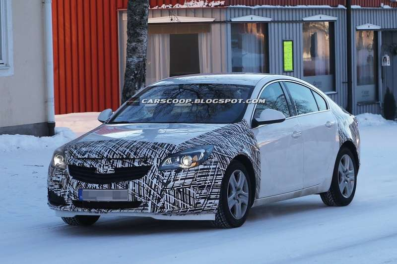 Restyled Opel Insignia test prototype side-front view 2_no_copyright