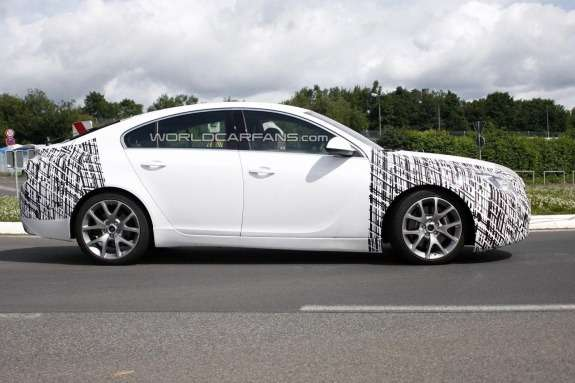 Facelifted Opel Insignia OPC side view