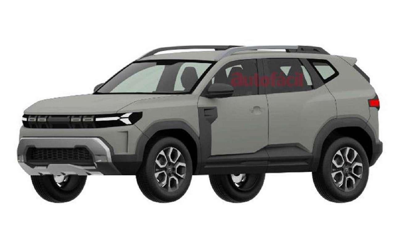 С прицелом нановую Ниву: запатентован дизайн Dacia Bigster— фото 1247822