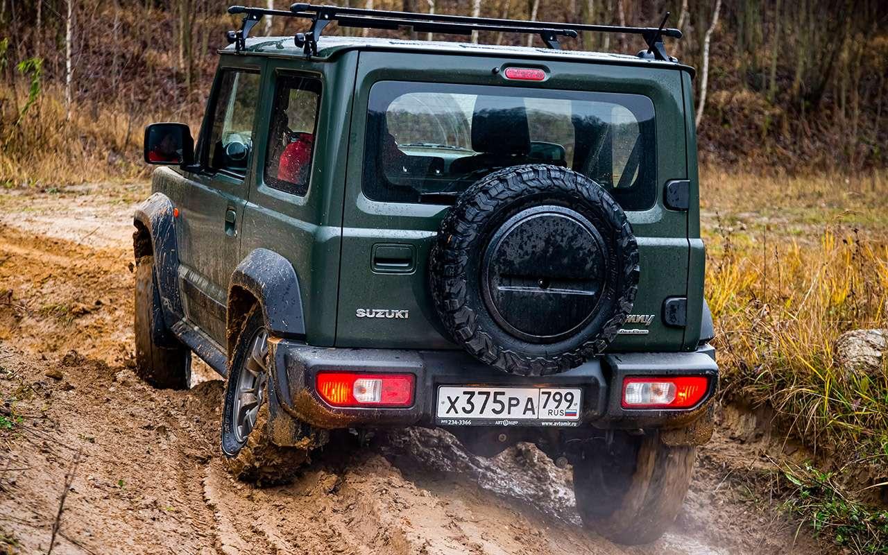 Тест-драйв легенд бездорожья: Lada 4x4, Suzuki Jimny, Jeep Wrangler— фото 1089430