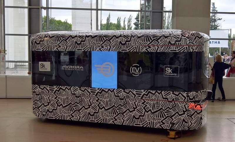 ВМоскве показали прототип первого российского автобуса-беспилотника