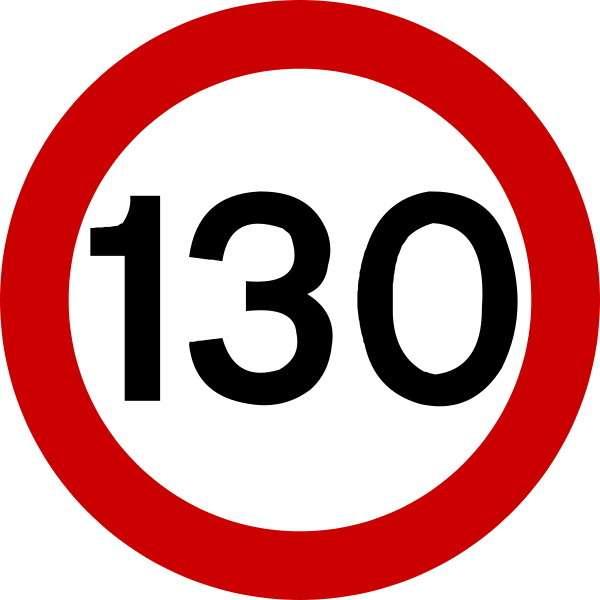 ограничение скорости 130 км/ч