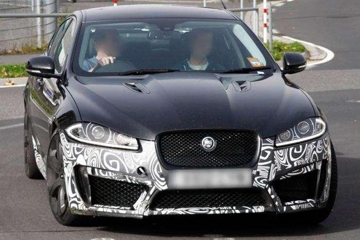 Jaguar XFR-S test prototype front view_no_copyright