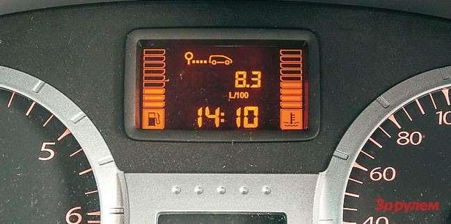 Летом, несмотря начасто работающий кондиционер, средний расход неподнимается выше 8,5 л/100км. Вгороде ончуть ниже 10л, анатрассе сильно зависит отскорости: при 80км/ч примерно 5,5 л/100км, при 110 км/ч— уже наполтора литра больше.