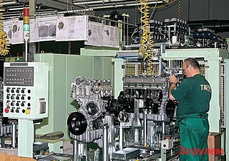 Организовали наТагАЗе исборку двигателей длякорейских автомобилей. Правда, вскоре свернули. Нетеобъемы производства!