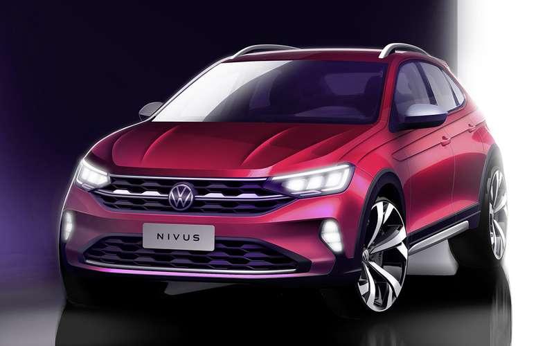 Volkswagen Nivus: дата премьеры ипервое изображение