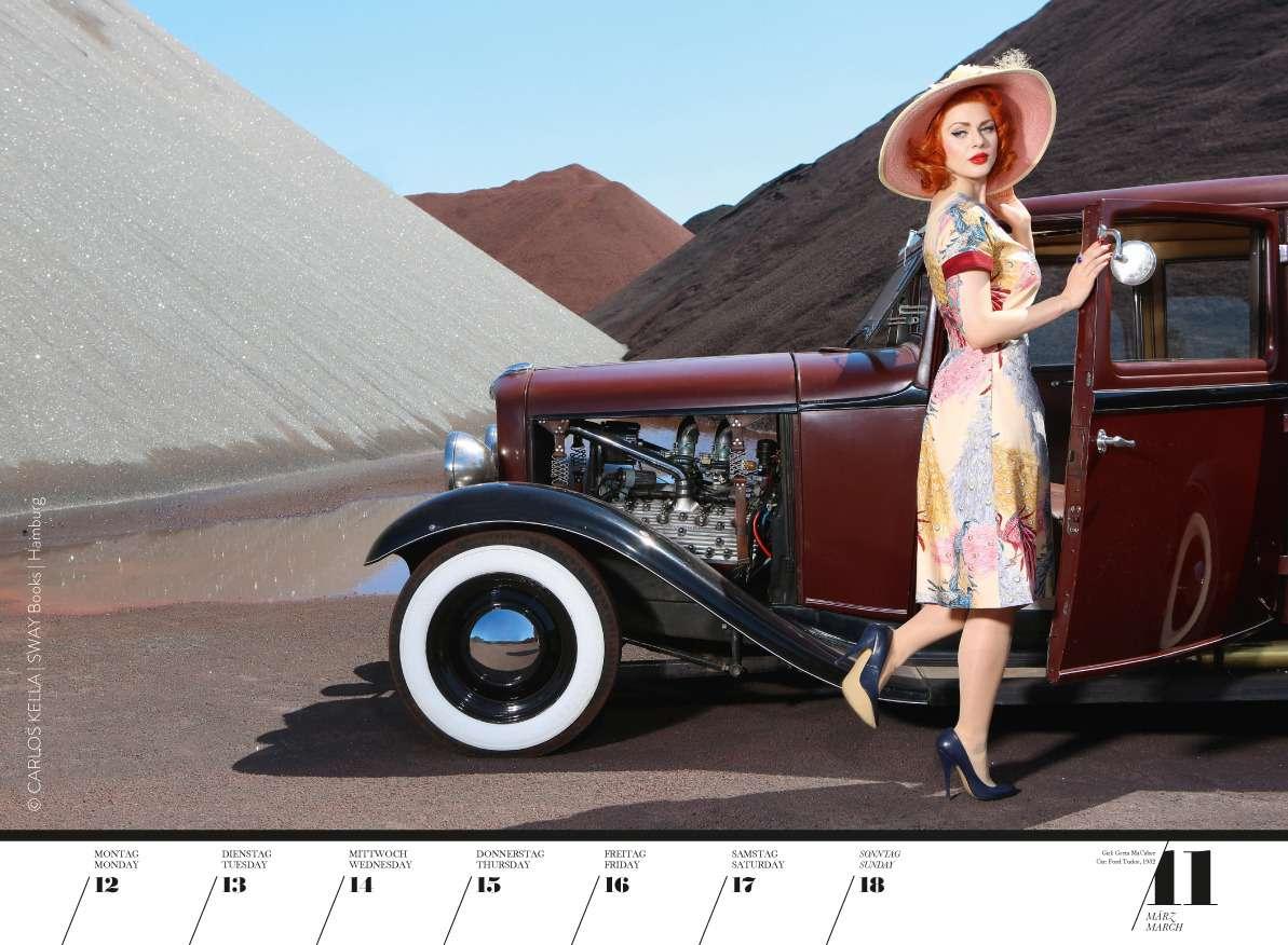 Юбилейный пин-ап календарь: девушки илегендарные машины— фото 798216