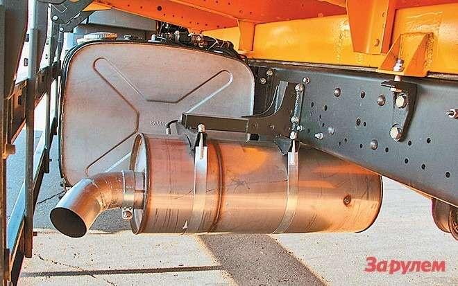 ...а ввыпускной трубопровод уровня  Евро-4 впрыскивается AdBlue