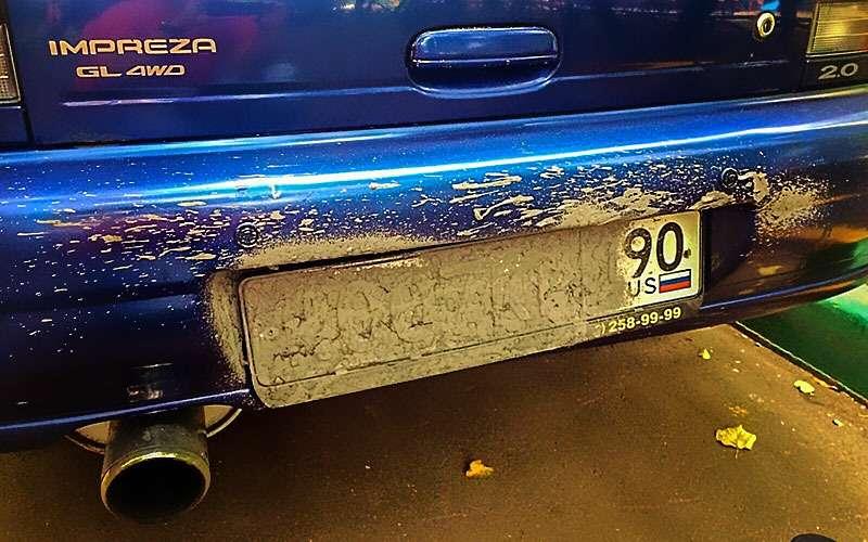 Искусственная грязь, шторки, магниты— все способы скрыть номер напарковке— фото 799278