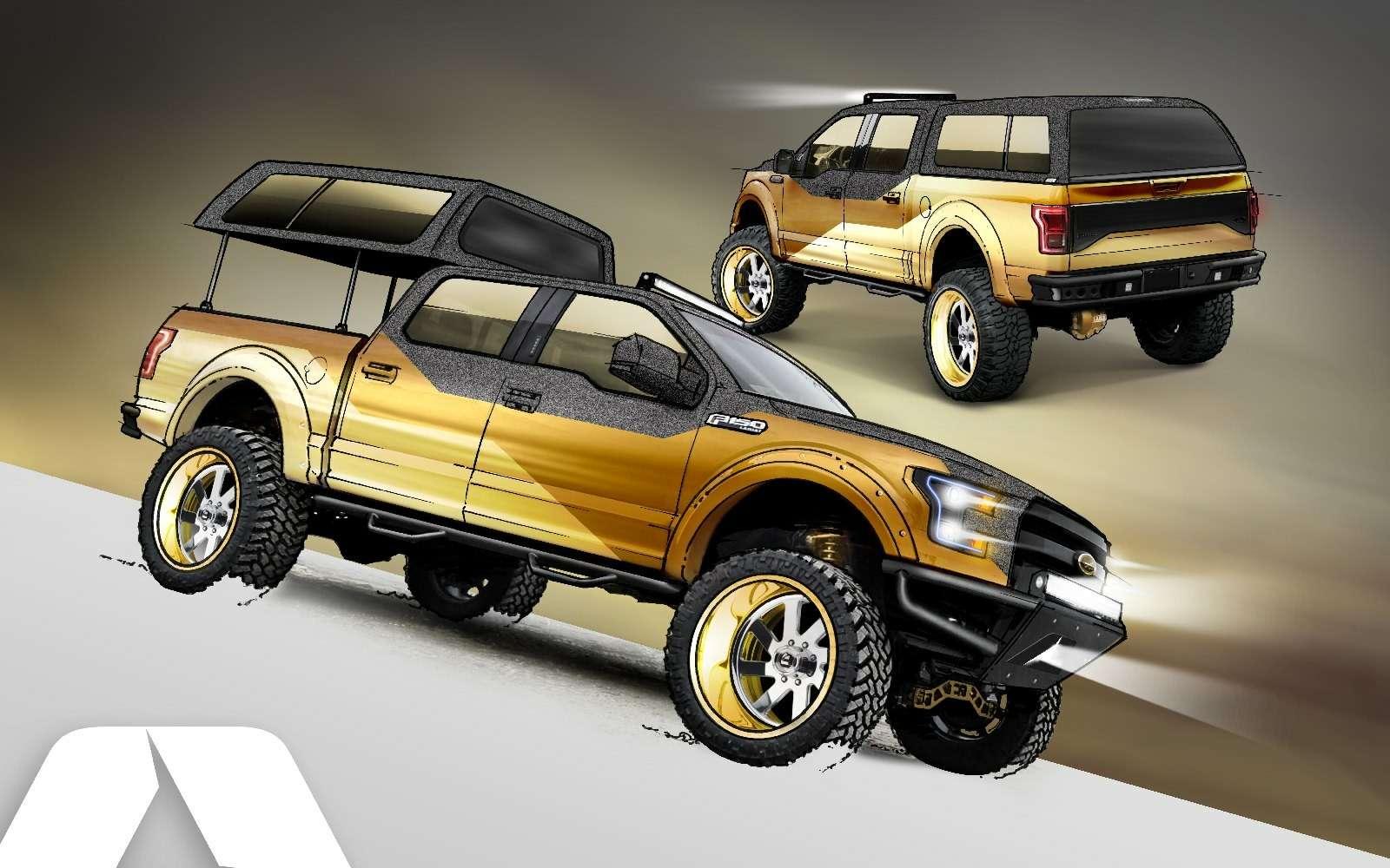 Фантастическая четверка: супер-траки Ford станут звездами выставки SEMA