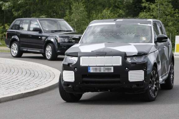 Next Land Rover Range Rover Sport test prototype front view