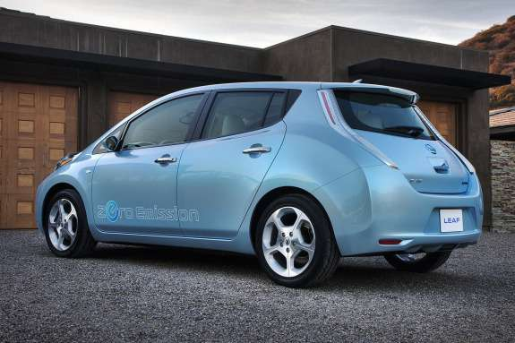 Nissan Leaf side-rear view
