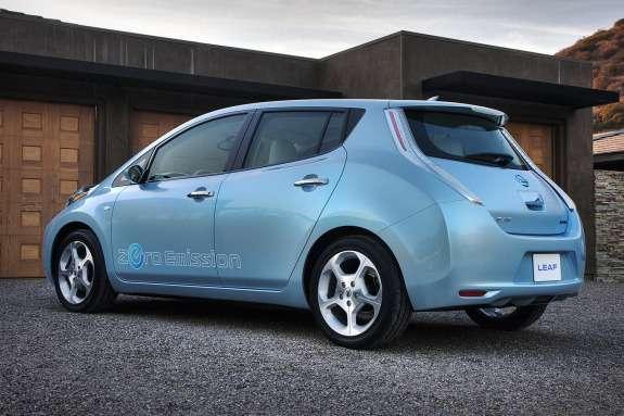 Nissan Leaf side-rear view