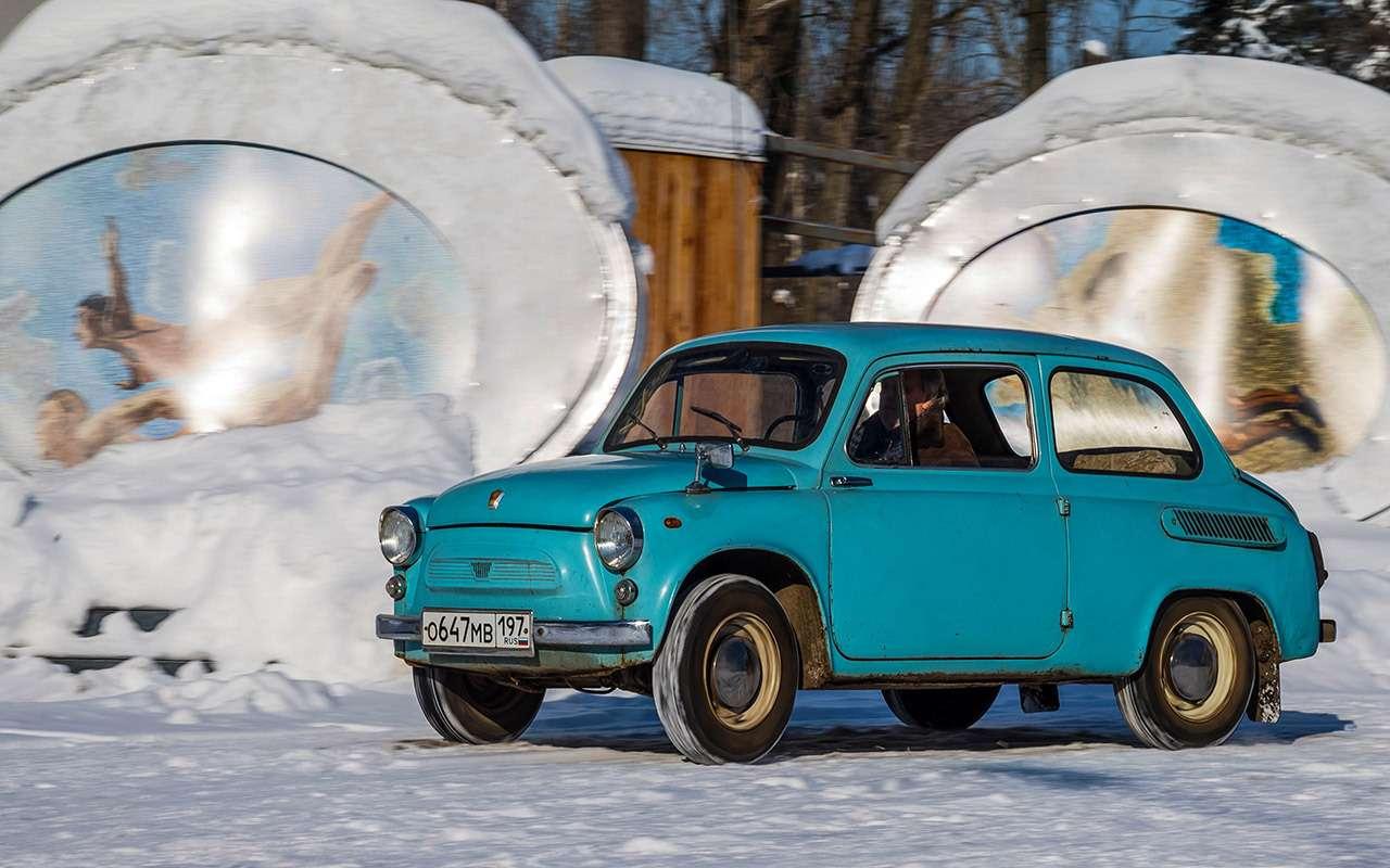 Советские автомобили против иномарок— супертест кюбилею— фото 858341