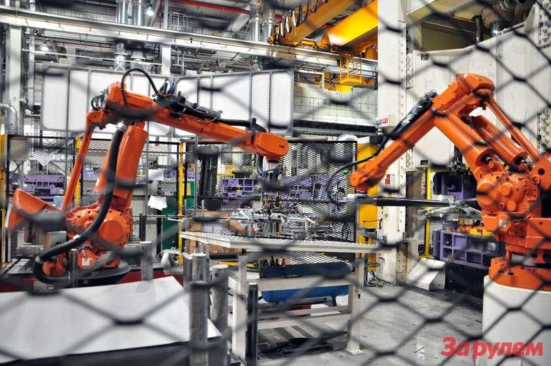 роботы назаводе Jaguar