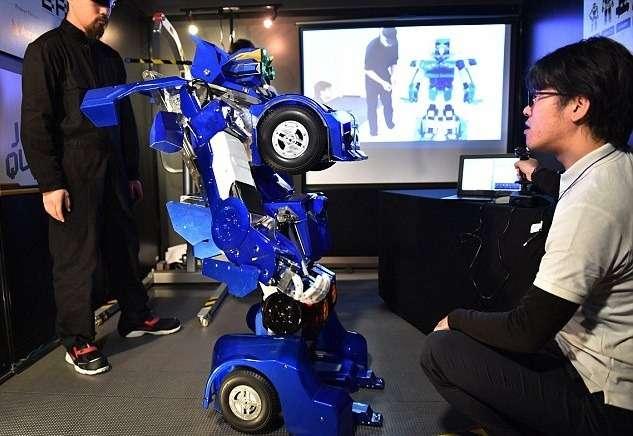 Японские умельцы создали робота-трансформера (ВИДЕО)