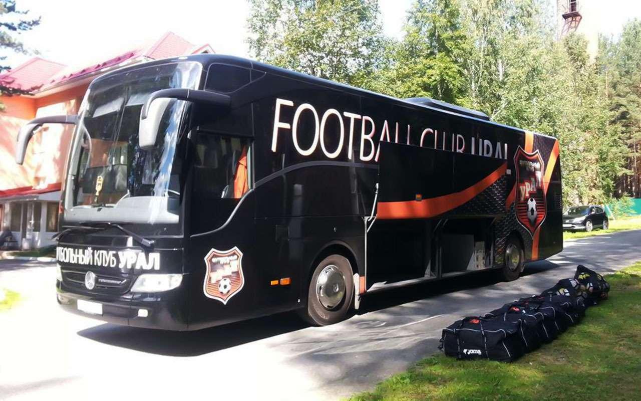 Mercedes, Setra, Volgabus...— накаких автобусах ездят наши футболисты— фото 929683