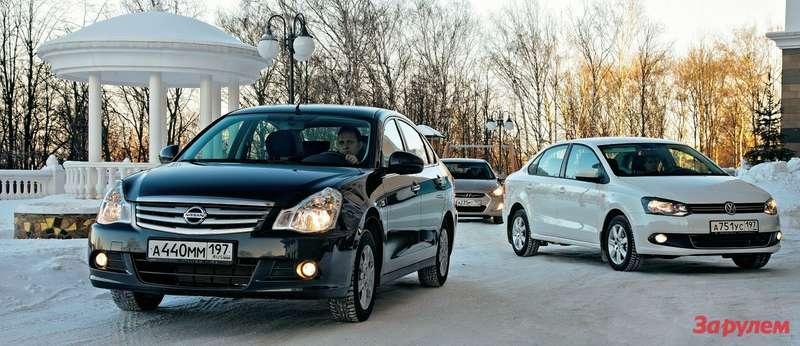 Hyundai Solaris, Nissan Almera, Volkswagen Polo Sedan