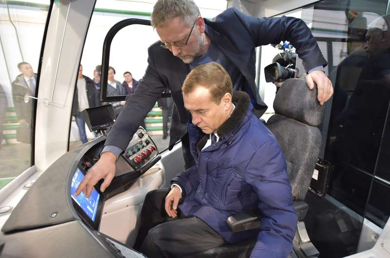 PM Medvedev on working trip to Tver