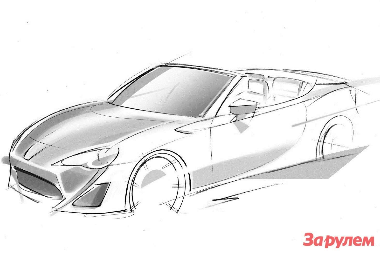 Toyota GT 86 Open Concept first sketch