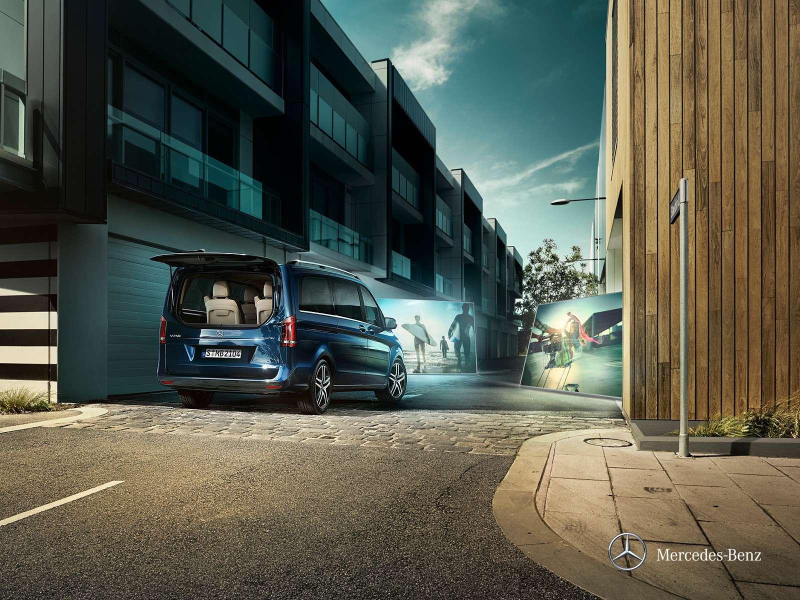Mercedes-Benz привез вРоссию базовый V200за 2,14млн рублей— фото 360743