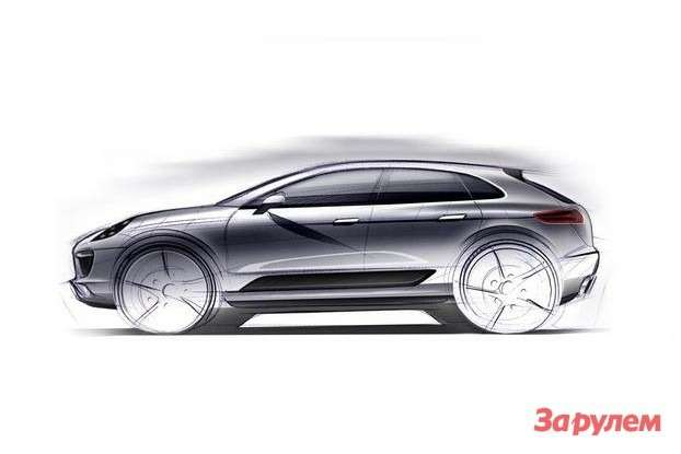 Porsche Macan official sketch