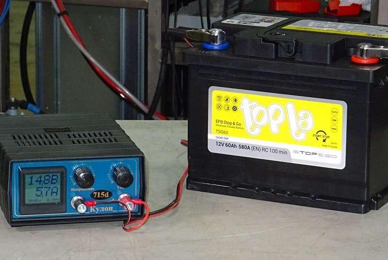 Каким напряжением надо заряжать старт-стопную батарею? — фото 1007720