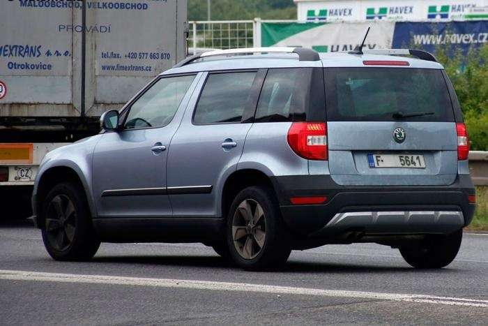 skoda yeti facelift rear no copyright