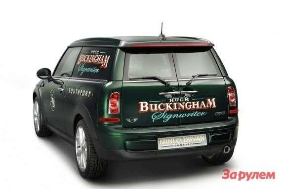 Mini Clubvan Concept side-rear view
