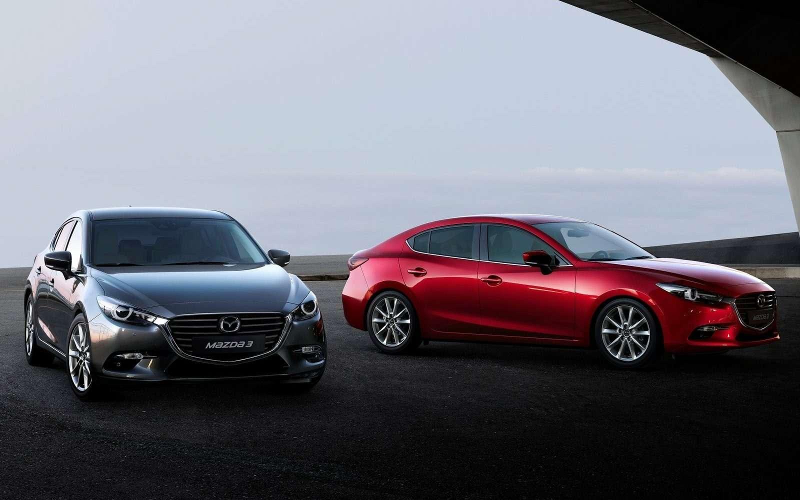 Обновленная Mazda 3будет сама жать нагаз!— фото 608689