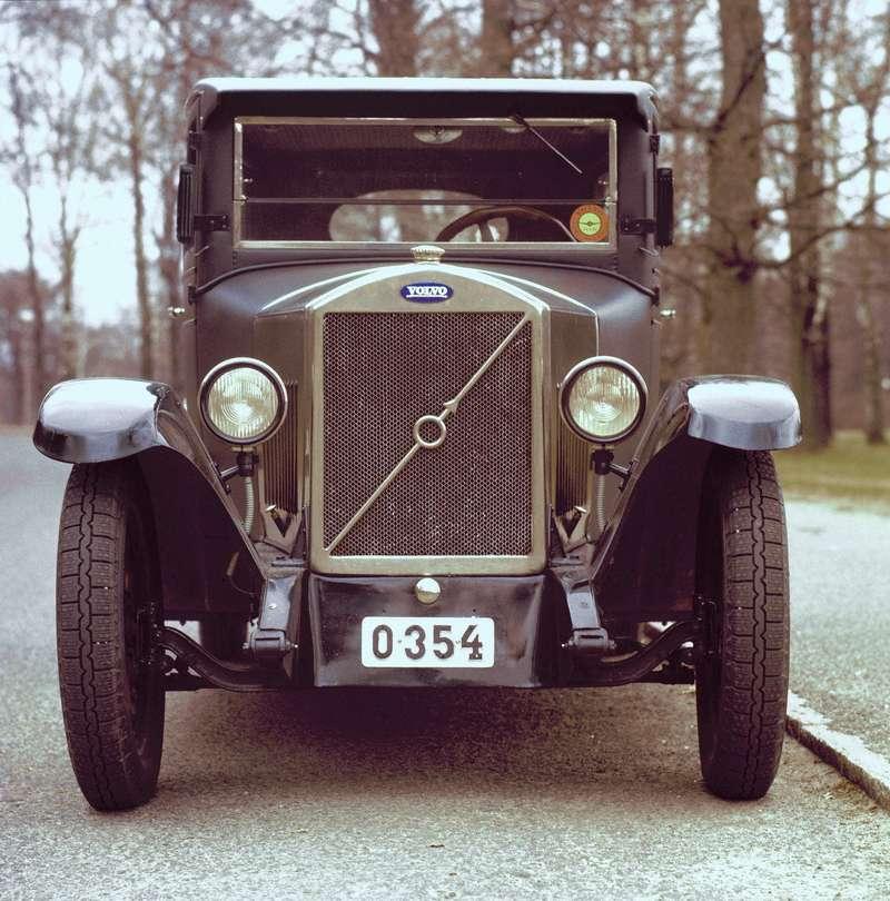 Один изпервых Volvo— модель сзакрытым кузовом PV4, 1928год