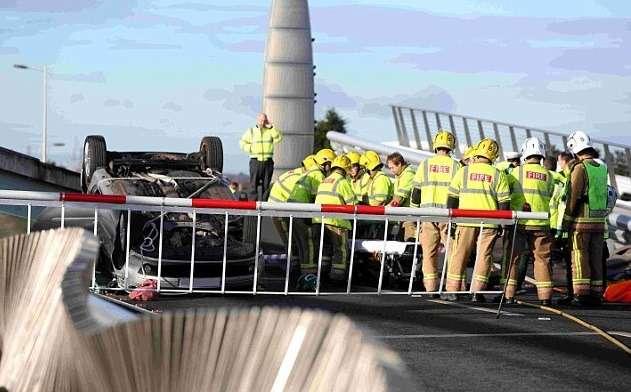 86-летняя пенсионерка на Renault Clio перепрыгнула через разведенный мост