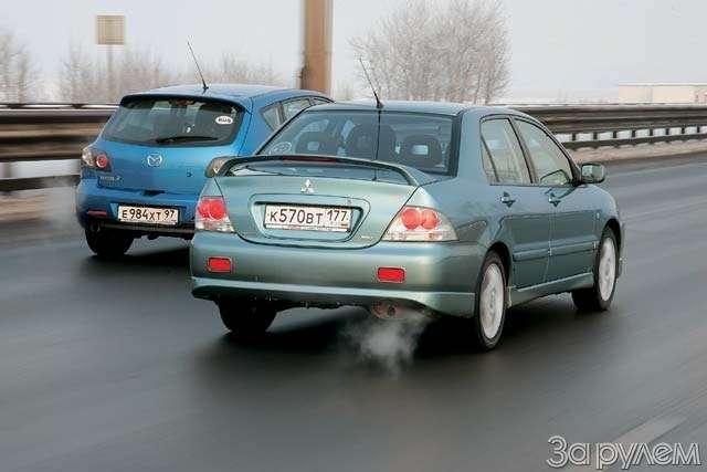 ТЕСТ: Mazda 3и Mitsubishi Lancer. Два литра сверхом— фото 63621