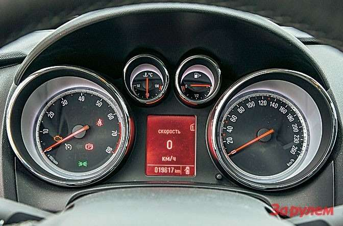 Какиубольшинства современных автомобилей, вмаршрутном компьютере «астр» есть цифровая индикация скорости. Так еепроще контролировать, чем пообычной шкале.