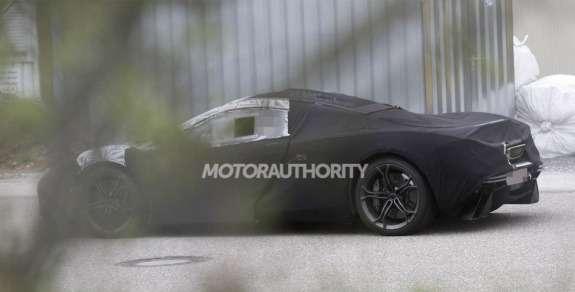 McLaren P12 test prototype side-rear view