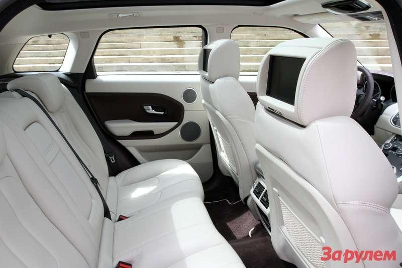 Задние места пятидверного Range Rover Evoque