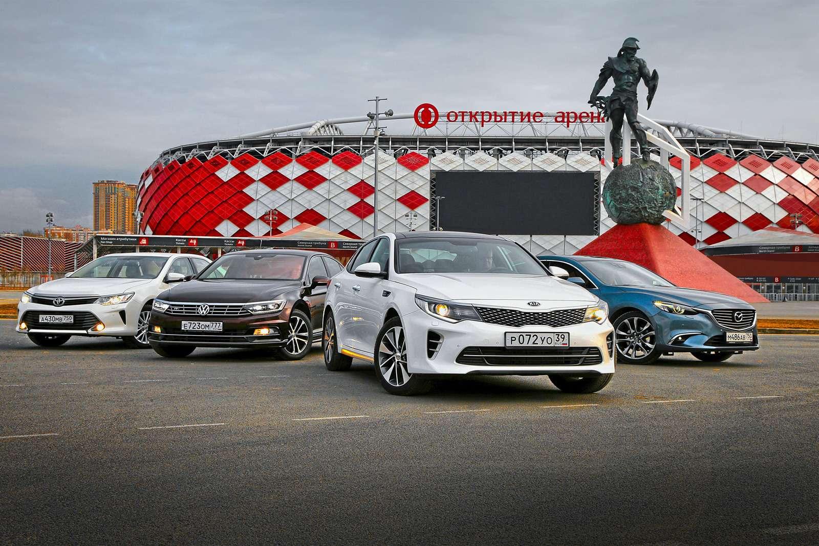Супертест: новая Kia Optima против трех конкурентов— фото 596127