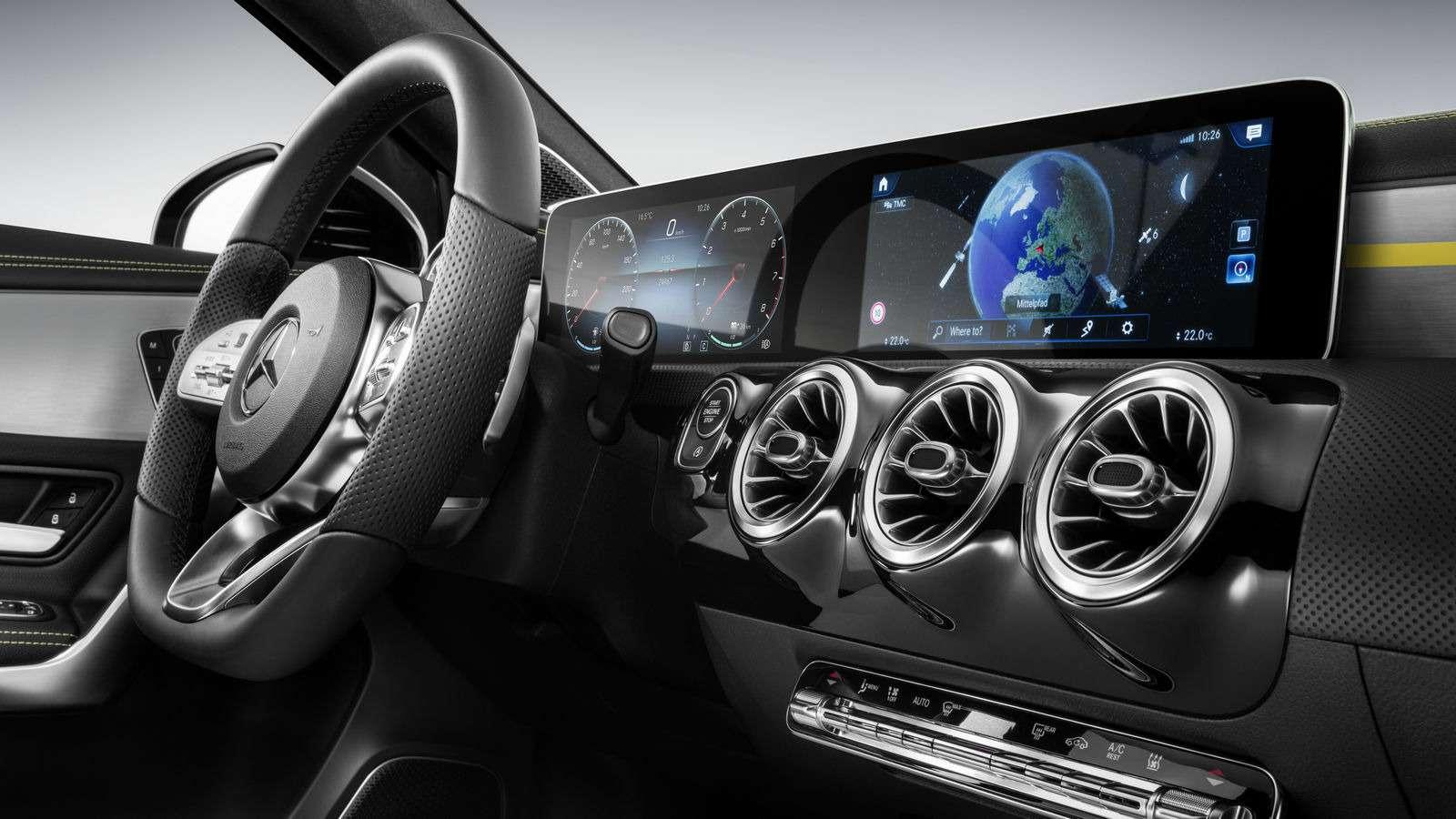 Новый Mercedes-Benz A-класса: руль отS-класса ипланшет вместо приборов— фото 819423