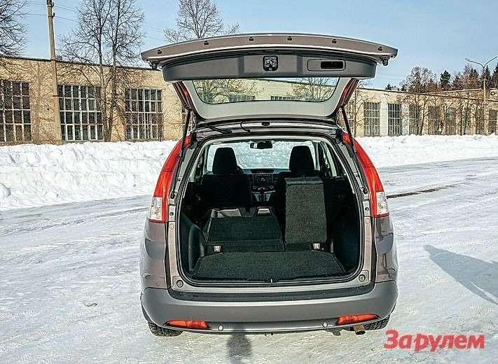 Honda— 480л Багажник в«Хонде» рекордный— 480л, понашим измерениям.