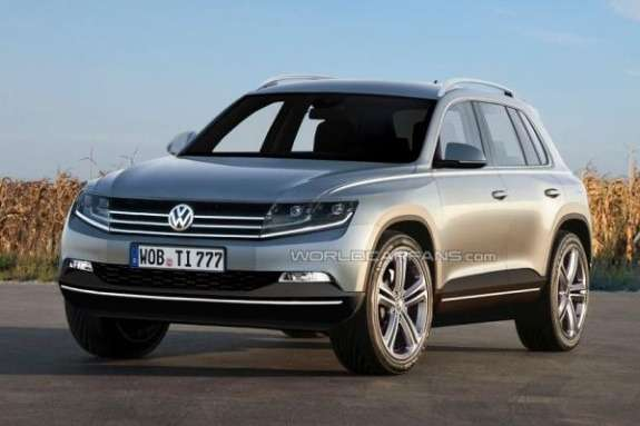 New Volkswagen SUV rendering side-front view