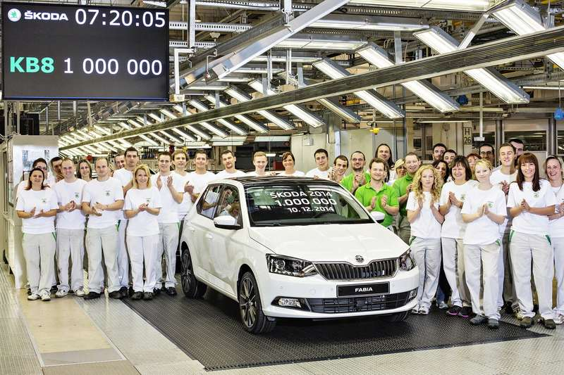 78273sko_1 million SKODA Cars produced in 2014 — 001S