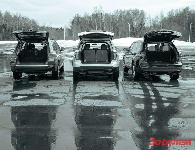 Ford Explorer, Mazda CX-9, Toyota Highlander