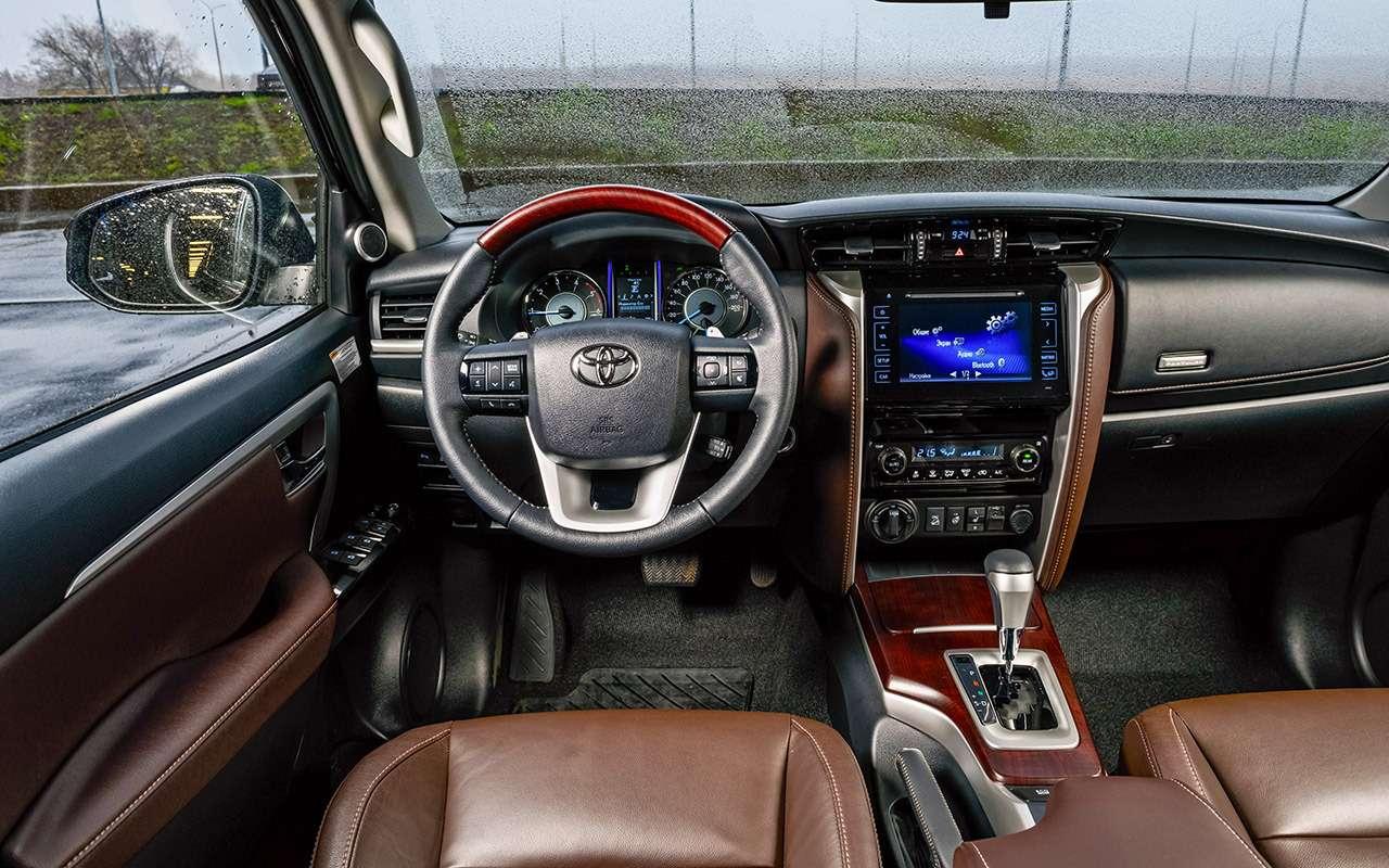 Новый Toyota Fortuner— тест-драйв ЗР— фото 837319