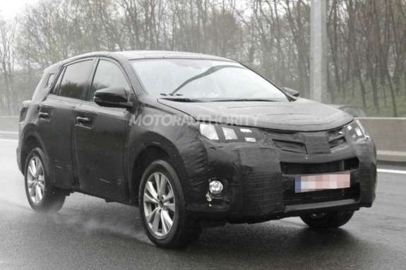 Next Toyota RAV4 test prototype side-front view