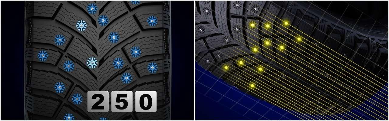 Новые зимние шины Michelin: зачем уних так много шипов— фото 912954
