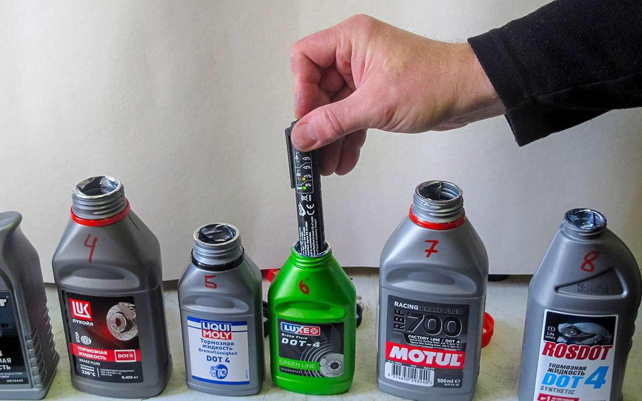 Тормозные жидкости итестеры дляних: экспертиза «Зарулем»— фото 1237691