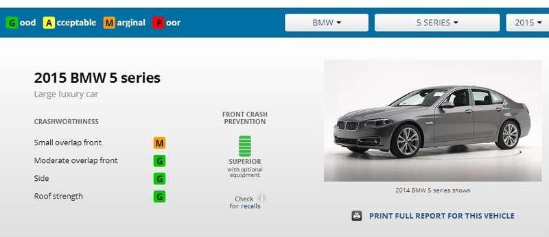 Infiniti Q70 превзошла BMW 5-серии втестах наудар смалым перекрытием
