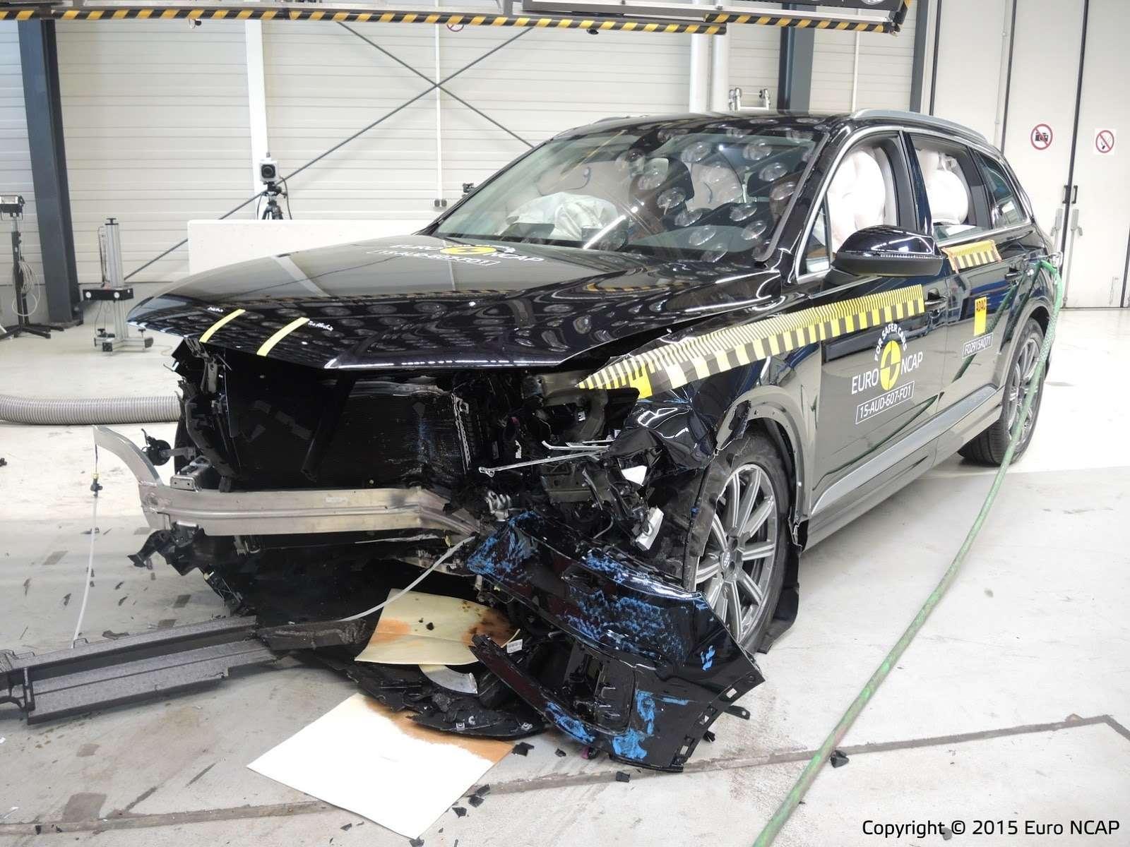 Audi Q7проходит краш-тест EuroNCAP