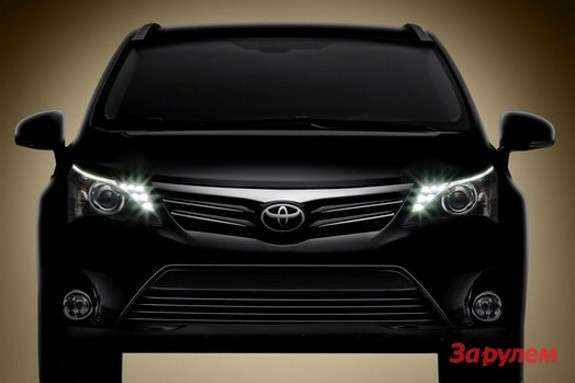 Restyled Toyota Avensis teaser front view