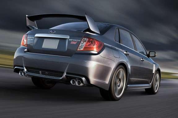 Subaru Impreza WRX STI sedan Special Edition side-rear view